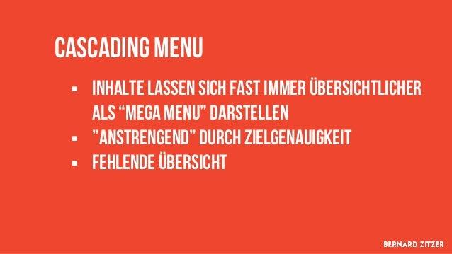 Sidebar Navigation § Unterstützendes navigationselement Innerhalb einer inhaltskategorie § Sinnvoll für shops, blogs, groß...