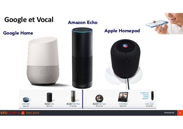 #seocamp 17 GoogleetVocal Google Home Apple Homepod Amazon Echo