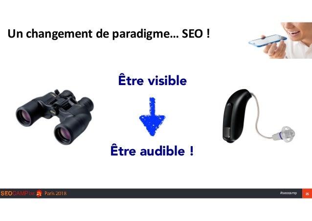 #seocamp 25 Unchangementdeparadigme…SEO! Être visible Être audible !