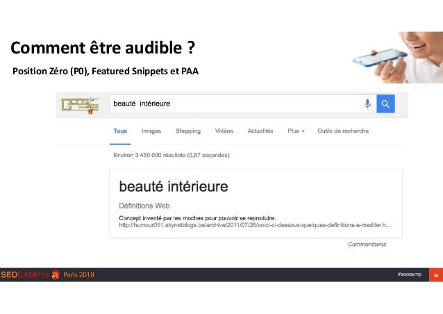 #seocamp 34 Commentêtreaudible? PositionZéro(P0),FeaturedSnippetsetPAA