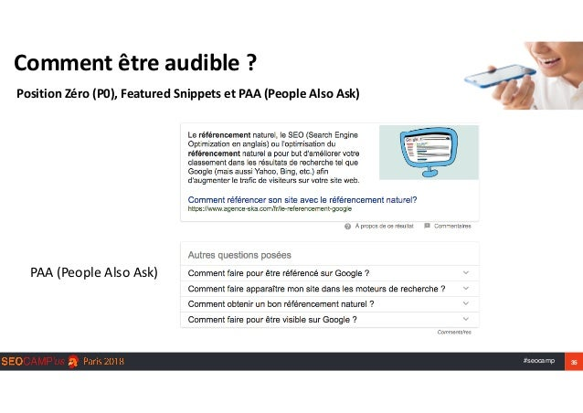 #seocamp 35 Commentêtreaudible? PositionZéro(P0),FeaturedSnippetsetPAA(PeopleAlsoAsk) PAA(PeopleAlsoAsk)