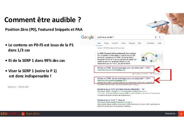 #seocamp 37 Commentêtreaudible? PositionZéro(P0),FeaturedSnippetsetPAA   •LecontenuenP0-FSestissusdela...