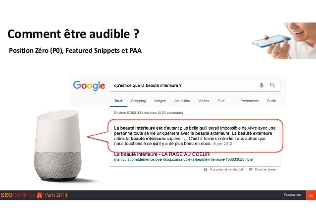 #seocamp 41 Commentêtreaudible? PositionZéro(P0),FeaturedSnippetsetPAA