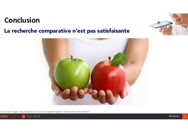#seocamp 71 Conclusion Sourcedel'image:http://www.trois-six.com/comparatif-agences-web-creation-site-internet La reche...
