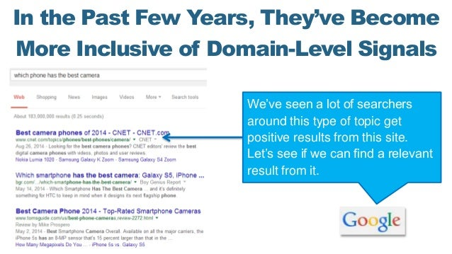 In the Past Few Years, They've Become More Inclusive of Domain-Level Signals We've seen a lot of searchers around this typ...