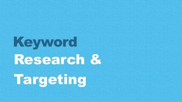 Research & Targeting Keyword