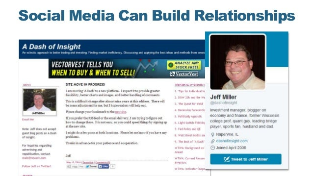 Social Media Can Build Relationships