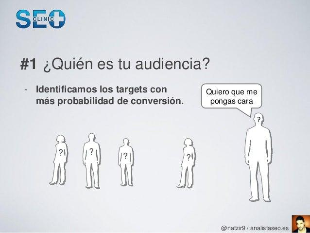 #1 ¿Quién es tu audiencia?- Identificamos los targets con         Quiero que me  más probabilidad de conversión.        po...