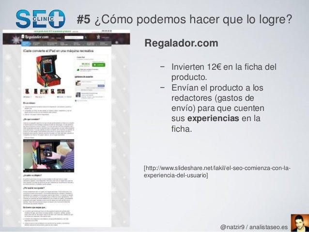#5 ¿Cómo podemos hacer que lo logre?           Regalador.com                 − Invierten 12€ en la ficha del              ...
