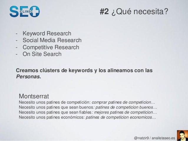 #2 ¿Qué necesita?-    Keyword Research-    Social Media Research-    Competitive Research-    On Site SearchCreamos clúste...