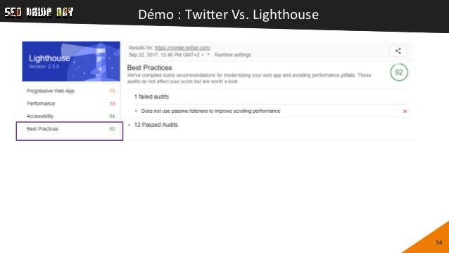 Démo : Twitter Vs. Lighthouse 34