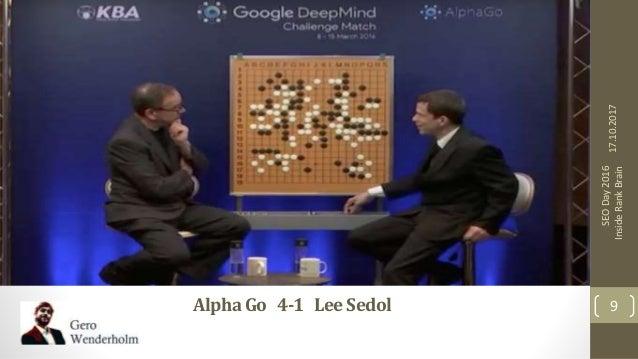 AlphaGo 4-1 LeeSedol 17.10.2017 9 SEODay2016 InsideRankBrain