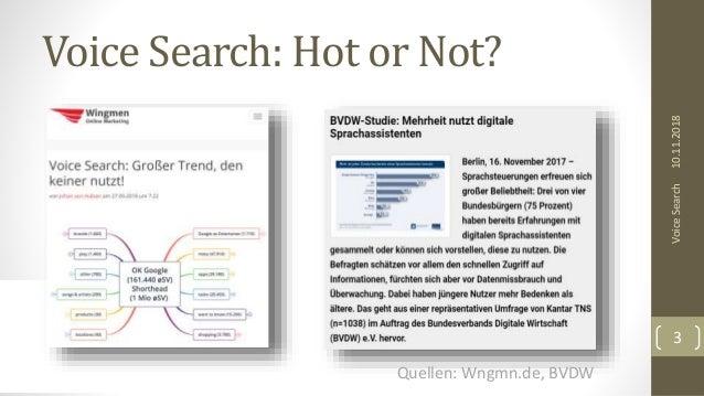 Voice Search: Hot or Not? 10.11.2018VoiceSearch 3 Quellen: Wngmn.de, BVDW