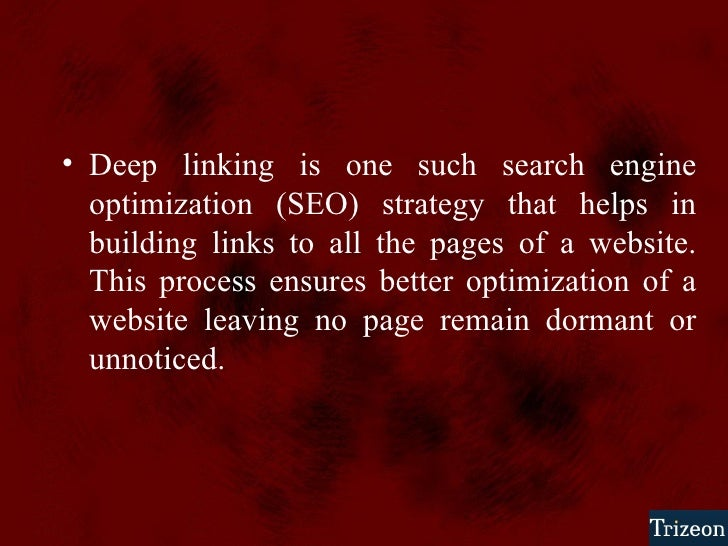 SEO Deep Linking Techniques slideshare - 웹