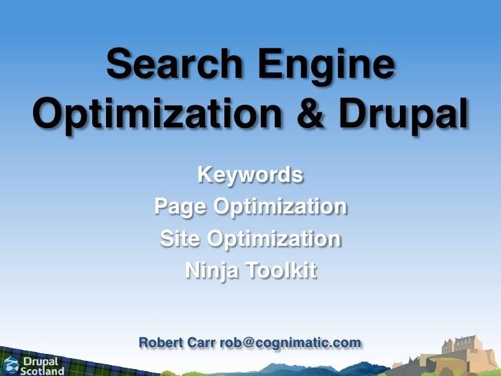 Search Engine Optimization<br />Keywords<br />Page Optimization<br />Site Optimization<br />Ninja Toolkit<br />www.semel.u...