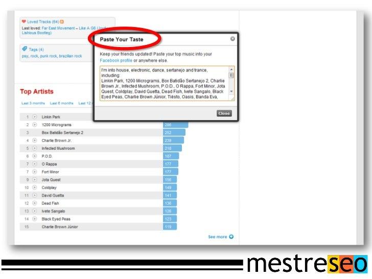 Tracking através do Google Analyticshttp://code.google.com/apis/analytics/docs/tracking/gaTrackingSocial.html