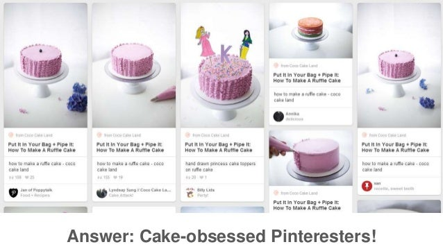 Answer: Cake-obsessed Pinteresters!