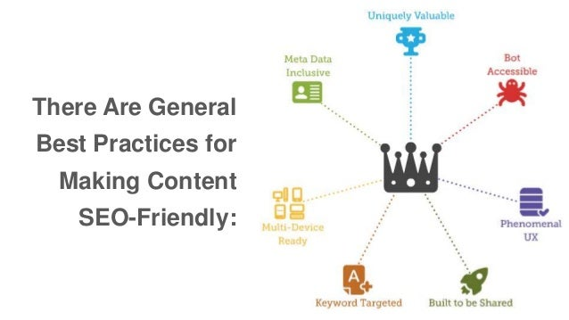 There Are General  Best Practices for  Making Content  SEO-Friendly:
