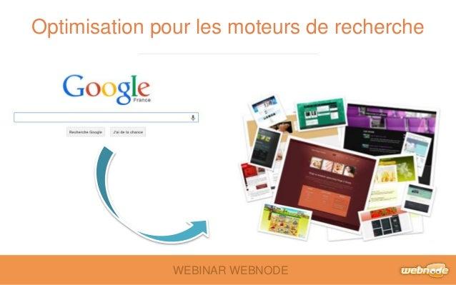 Optimisation pour les moteurs de recherche  WEBINAR WEBNODE
