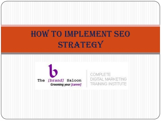 How to Implement SEO Strategy