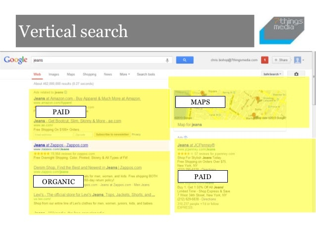 Vertical search                  MAPS     PAID                  PAID   ORGANIC