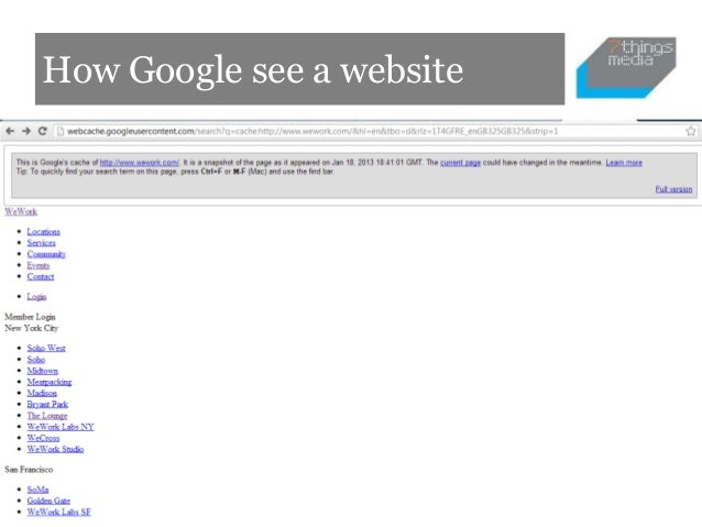 How Google see a website