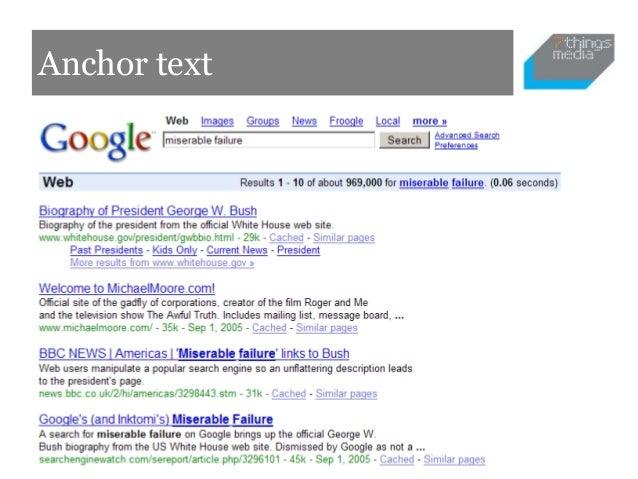 Anchor text•   Google analytics (Keywords)•   Google Webmaster Tools•   Google Trends