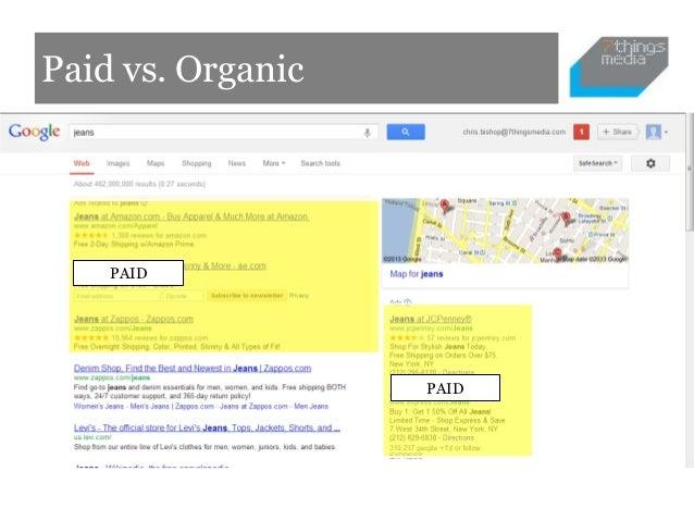 Paid vs. Organic    PAID                   PAID
