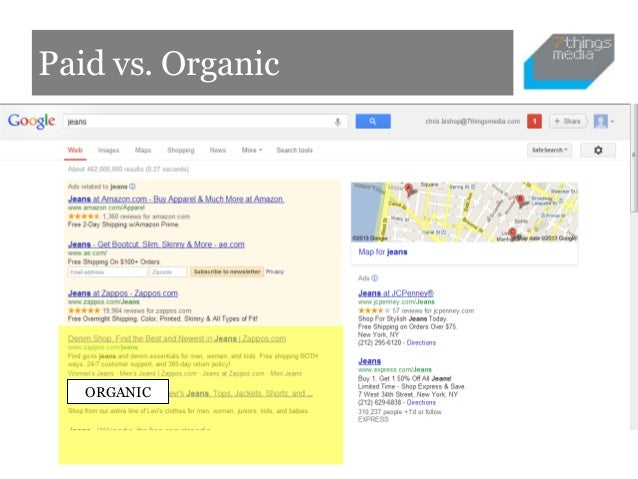 Paid vs. Organic   ORGANIC