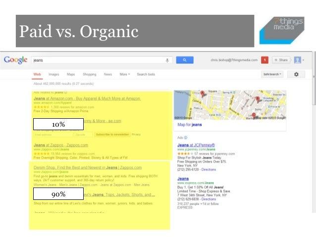 Paid vs. Organic    10%    90%