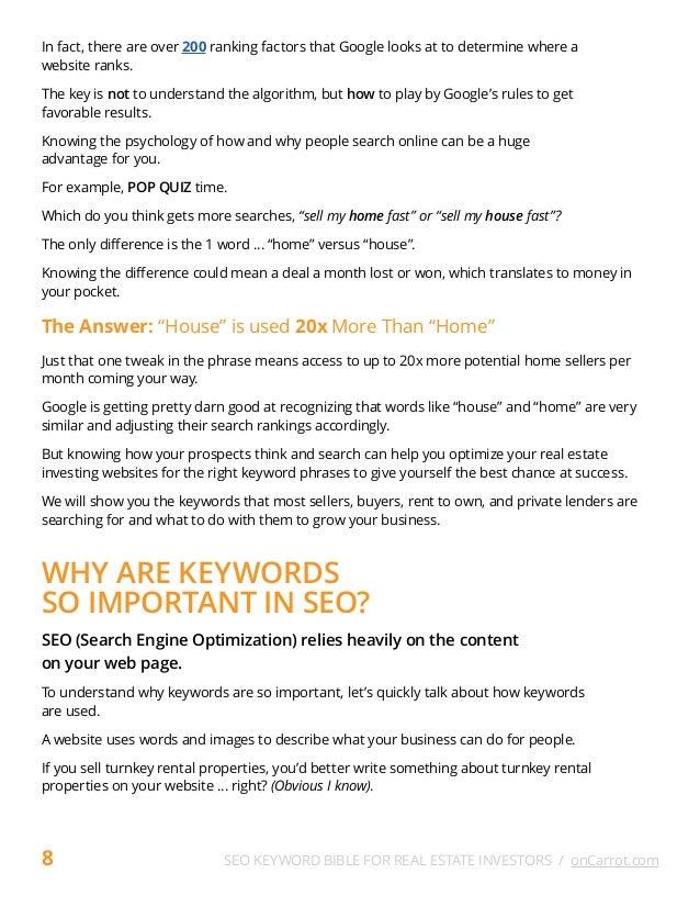 Seo keyword bible for real estate investors 10 solutioingenieria Images