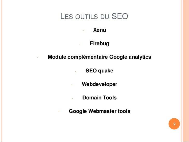 Seo les outils module 3 Slide 2