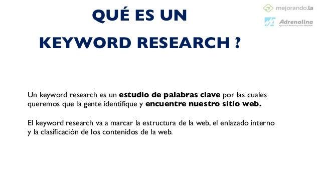 Eligiendo las palabras adecuadas Keyword Research