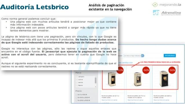 Análisis Off Page ! ! •Análisis actual de Link Building ! •Perfil de enlazado de anchor text: ! oRatio de …………………………. oRat...
