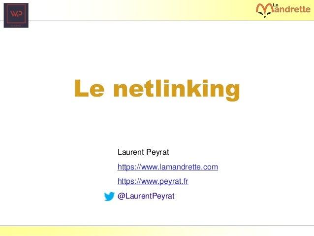 Laurent Peyrat – juin 2017 - https://www.peyrat.fr Le netlinking Laurent Peyrat https://www.lamandrette.com https://www.pe...