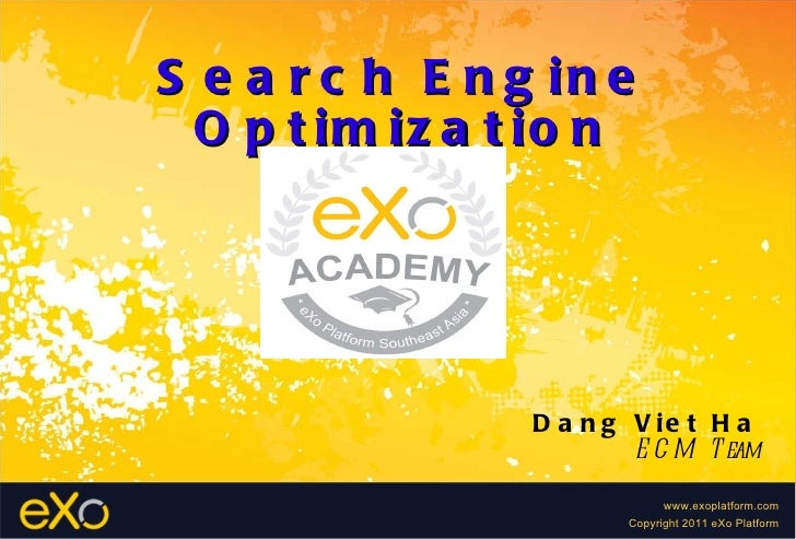 Search Engine Optimization Dang Viet Ha ECM Team