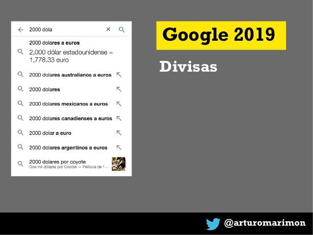 @arturomarimon Google 2019 Divisas