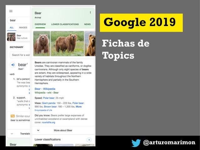 @arturomarimon Google 2019 Fichas de Topics
