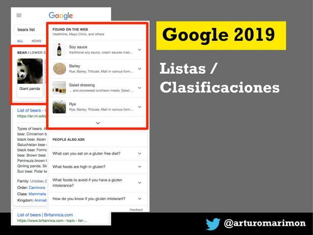 @arturomarimon Google 2019 Listas / Clasificaciones