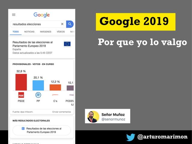 @arturomarimon Google 2019 Por que yo lo valgo