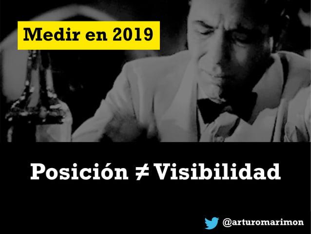 @arturomarimon Medir en 2019 Posición =Visibilidad/