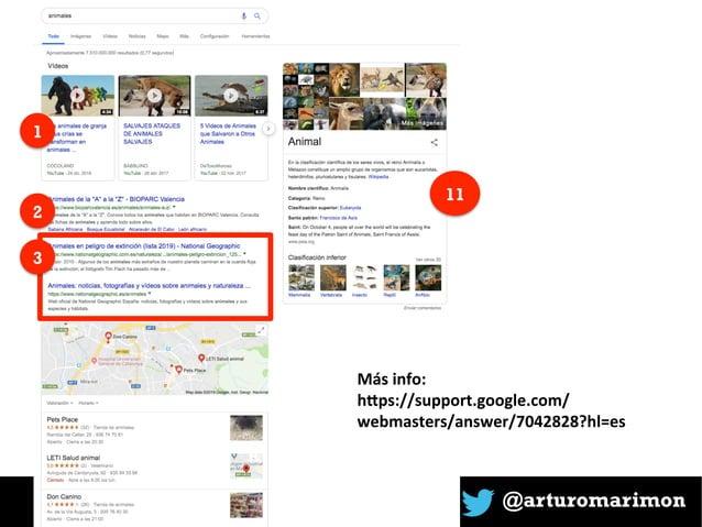 @arturomarimon 1 2 11 3 Másinfo: h+ps://support.google.com/ webmasters/answer/7042828?hl=es