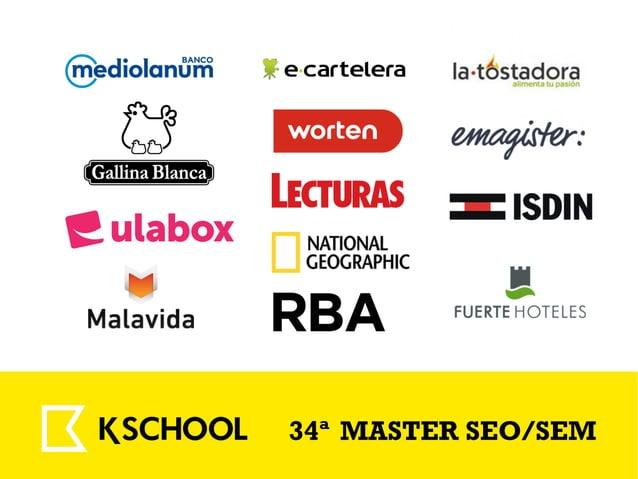 #WCSantander 34ª MASTER SEO/SEM