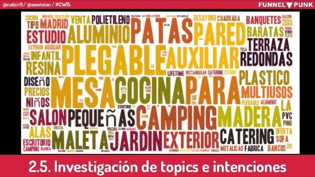 @natzir9 / @seovision / #CW15 2.5. Investigación de topics e intenciones