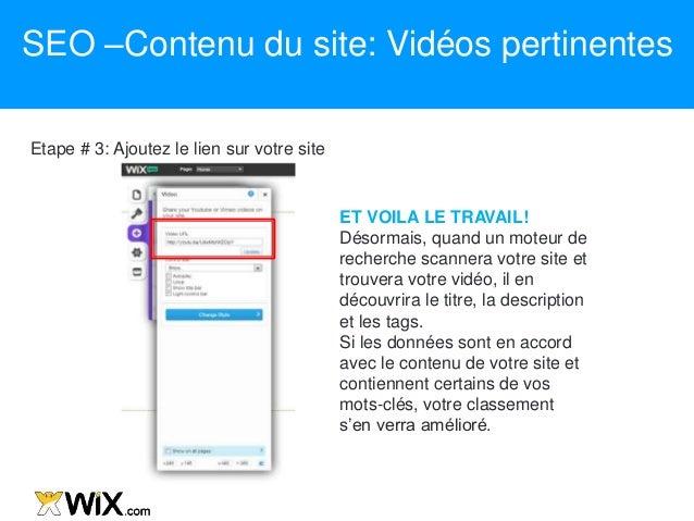 Etape # 3: Ajoutez le lien sur votre site ET VOILA LE TRAVAIL! Désormais, quand un moteur de recherche scannera votre site...