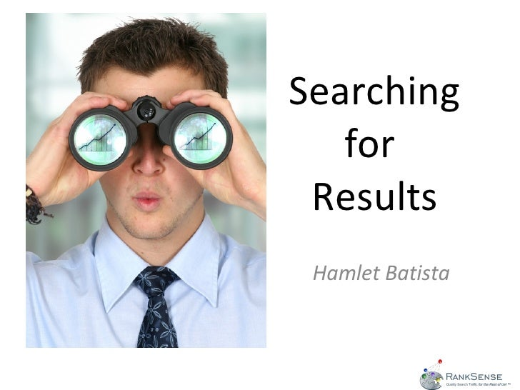 Searching for  Results Hamlet Batista