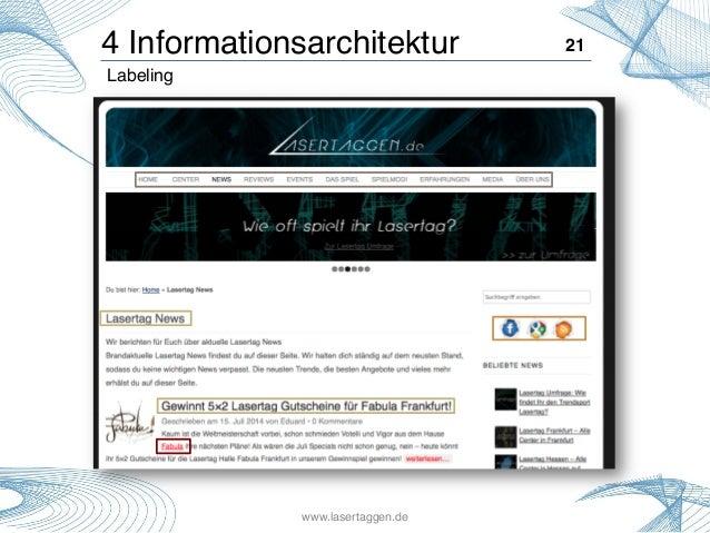 21!4 Informationsarchitektur! Labeling! www.lasertaggen.de!