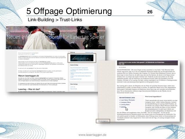 26! Link-Building > Trust-Links! 5 Offpage Optimierung! www.lasertaggen.de!
