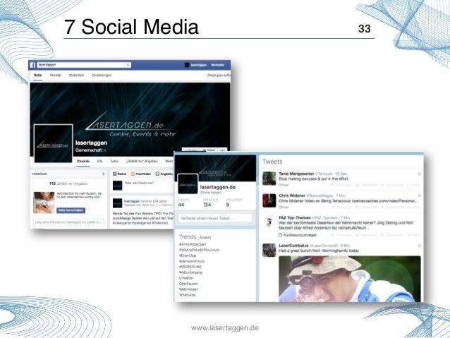 33!7 Social Media! www.lasertaggen.de!