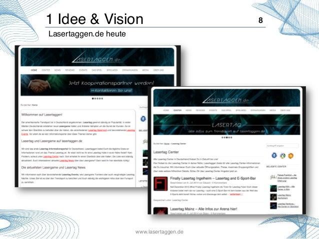 1 Idee & Vision! 8! Lasertaggen.de heute! www.lasertaggen.de!